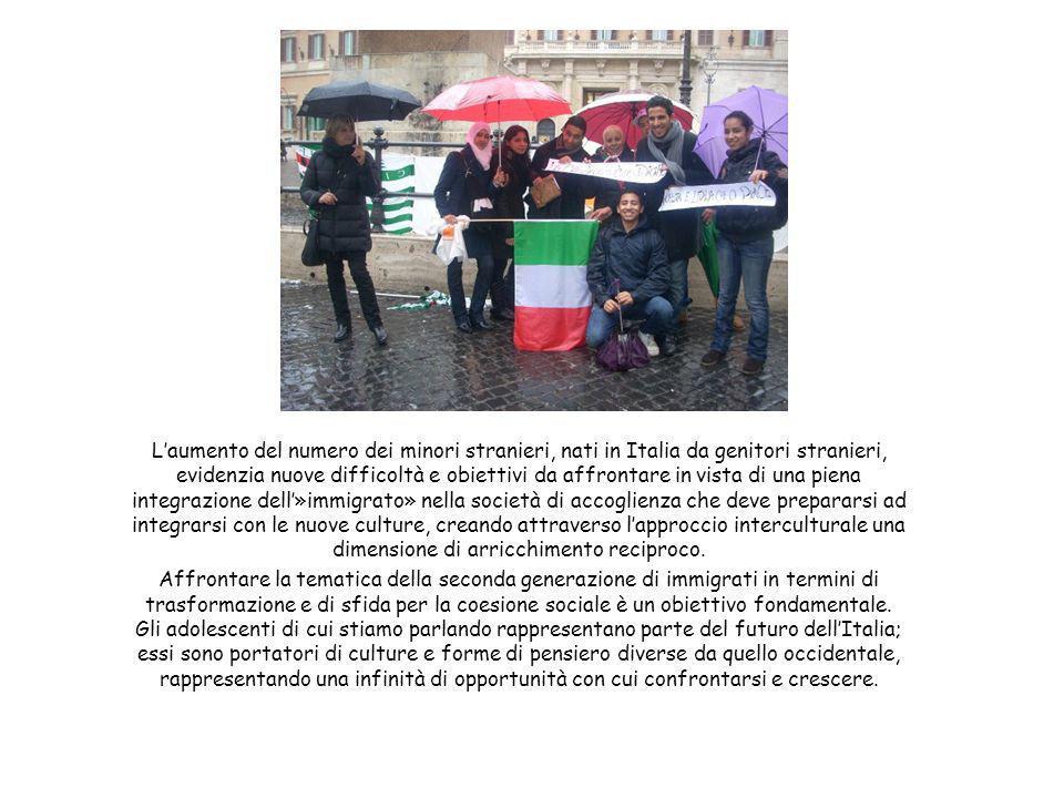 L'aumento del numero dei minori stranieri, nati in Italia da genitori stranieri, evidenzia nuove difficoltà e obiettivi da affrontare in vista di una