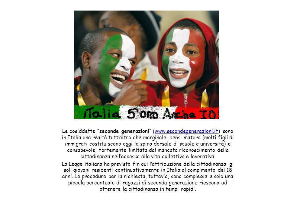 """Le cosiddette """"seconde generazioni"""" (www.secondegenerazioni.it) sono in Italia una realtà tutt'altro che marginale, bensì matura (molti figli di immig"""