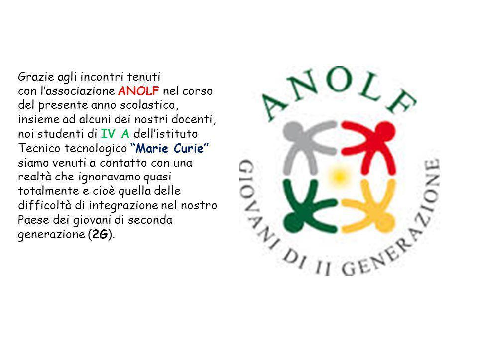 Grazie agli incontri tenuti con l'associazione ANOLF nel corso del presente anno scolastico, insieme ad alcuni dei nostri docenti, noi studenti di IV