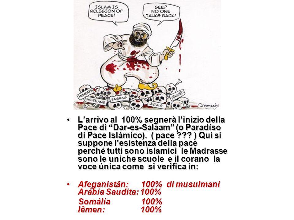 L'arrivo al 100% segnerà l'inizio della Pace di Dar-es-Salaam (o Paradíso di Pace Islâmico).