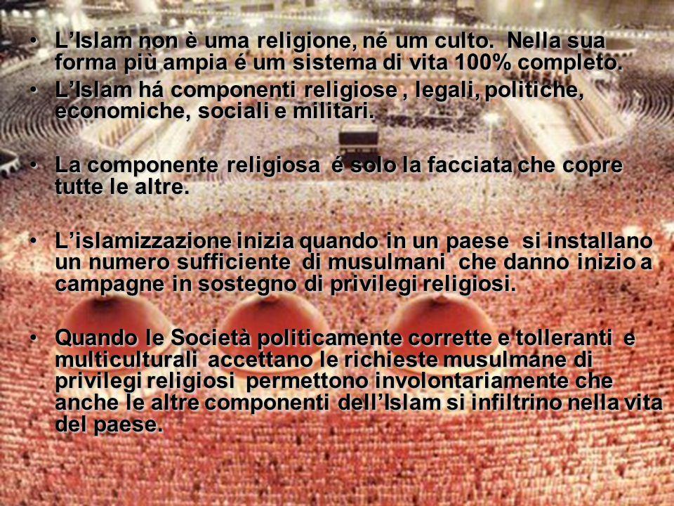 L'Islam non è uma religione, né um culto.