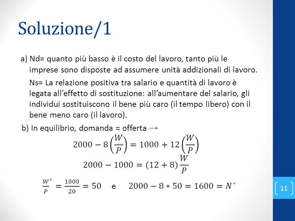 Soluzione/1 11