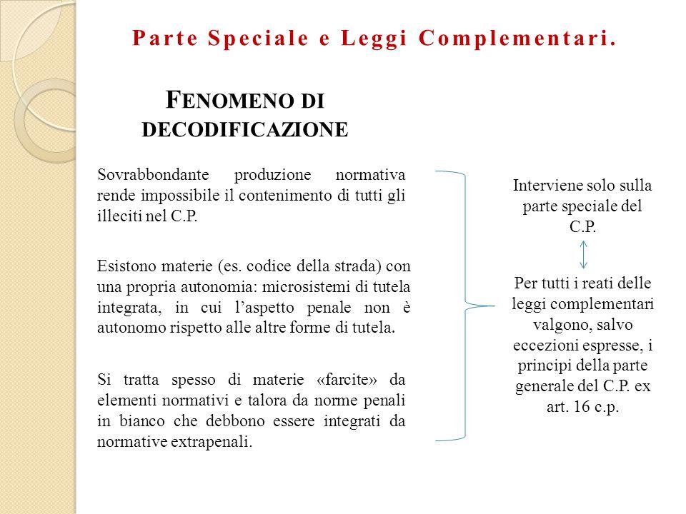 Parte Speciale e Leggi Complementari.