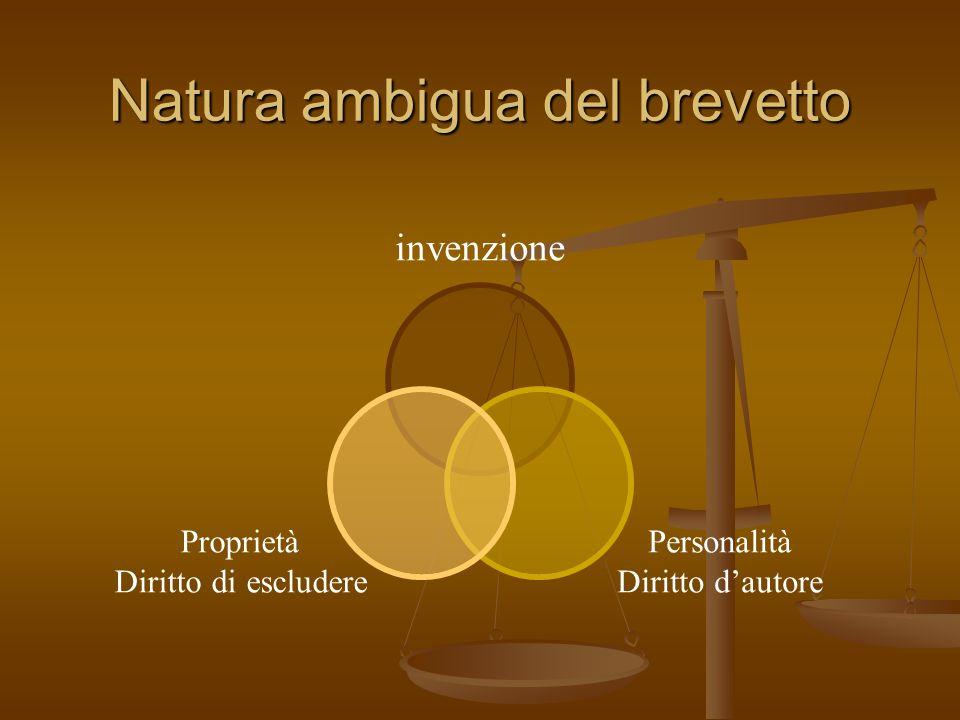 Natura ambigua del brevetto