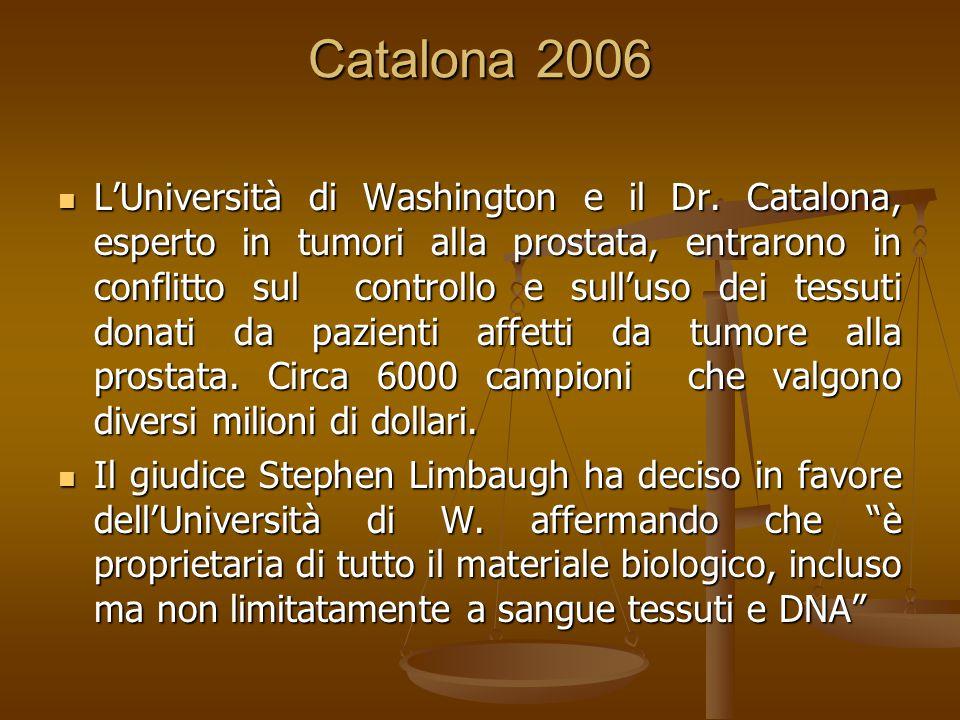 Catalona 2006 L'Università di Washington e il Dr.
