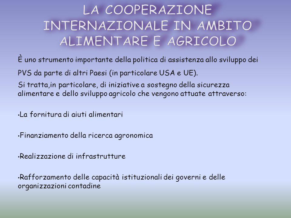 È uno strumento importante della politica di assistenza allo sviluppo dei PVS da parte di altri Paesi (in particolare USA e UE). Si tratta,in particol