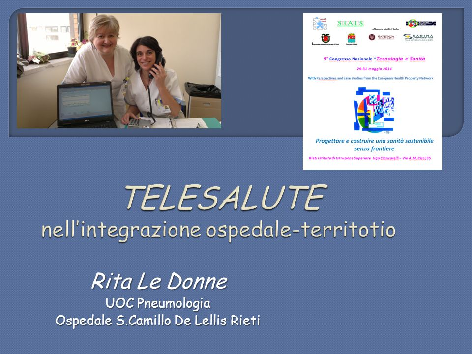 Rita Le Donne UOC Pneumologia Ospedale S.Camillo De Lellis Rieti