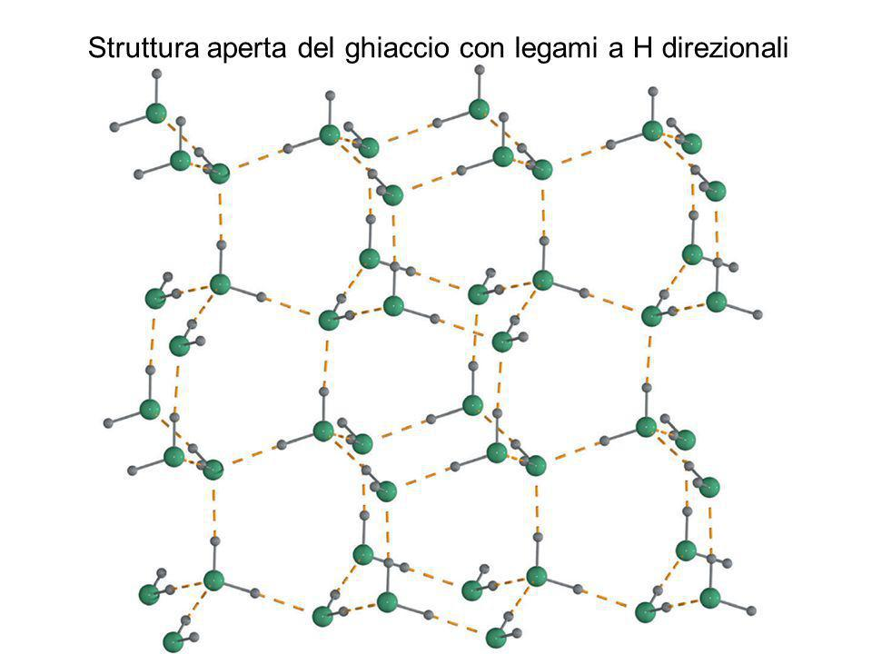 Struttura aperta del ghiaccio con legami a H direzionali