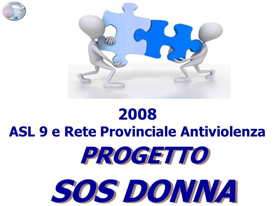PROGETTO SOS DONNA PROGETTO SOS DONNA 2008 ASL 9 e Rete Provinciale Antiviolenza