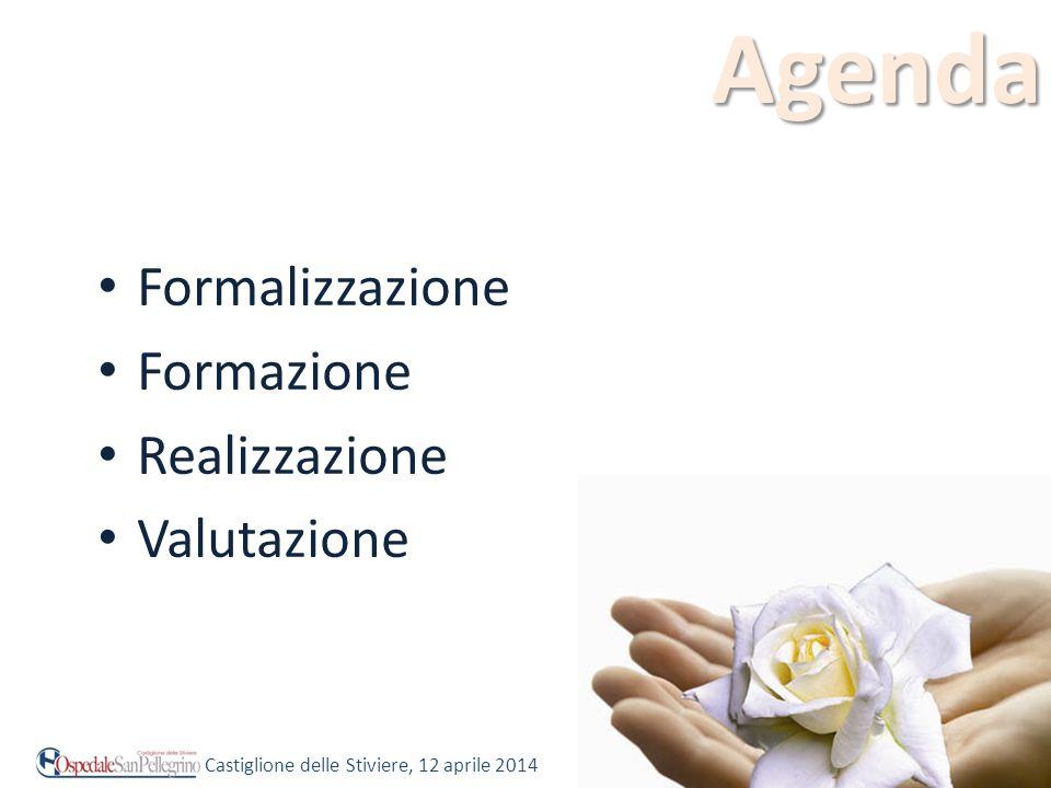 Agenda Formalizzazione Formazione Realizzazione Valutazione Castiglione delle Stiviere, 12 aprile 2014