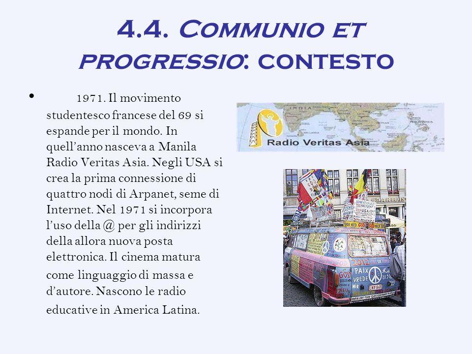 4.4.Communio et progressio: contesto 1971.