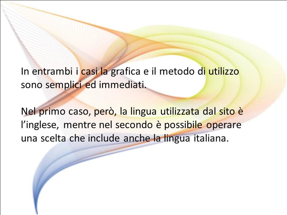 In entrambi i casi la grafica e il metodo di utilizzo sono semplici ed immediati.