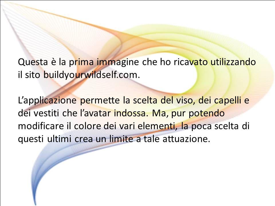 Questa è la prima immagine che ho ricavato utilizzando il sito buildyourwildself.com.