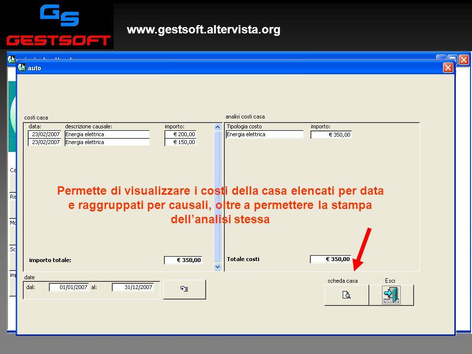 www.gestsoft.altervista.org Spese di casa