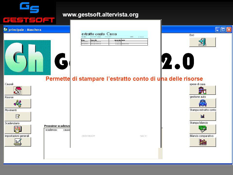 www.gestsoft.altervista.org Stampa estratto conto