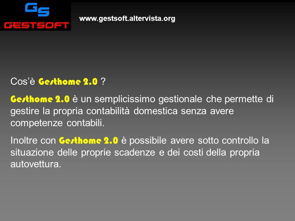 Gesthome 2.0 www.gestsoft.altervista.org