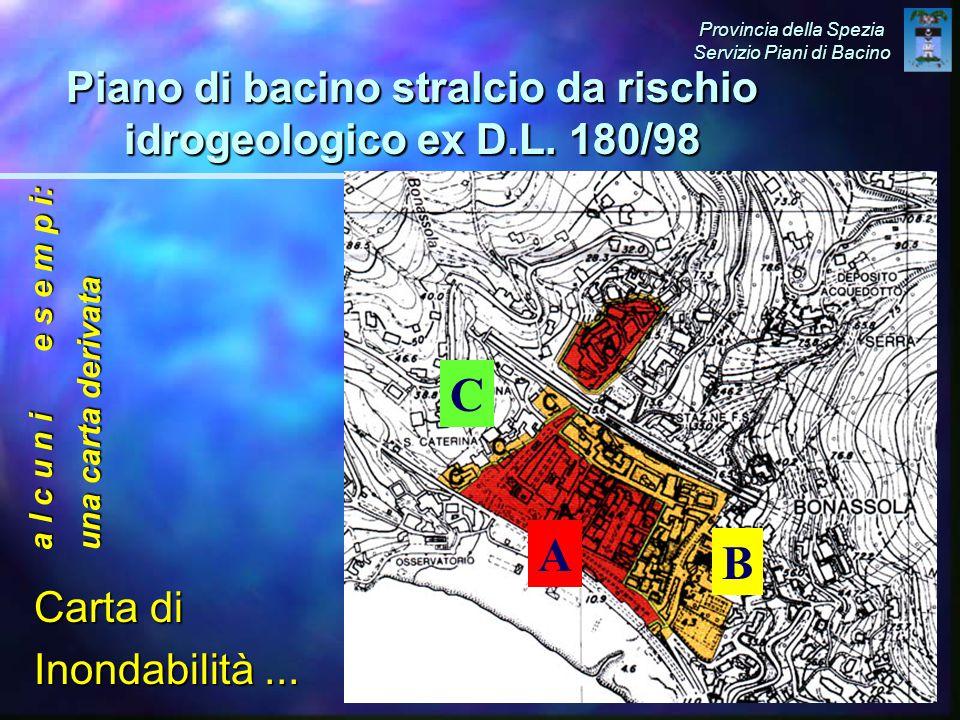 Piano di bacino stralcio da rischio idrogeologico ex D.L.