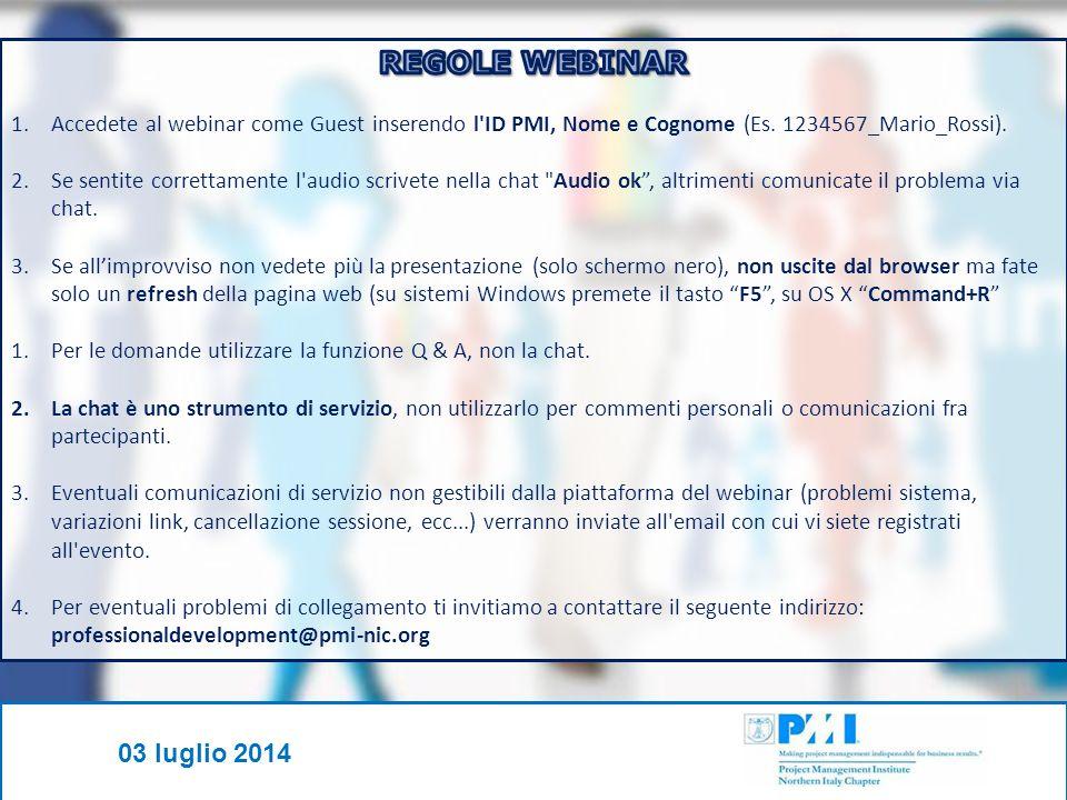 PMI-NIC © - Tutti i diritti riservati 03 luglio 2014