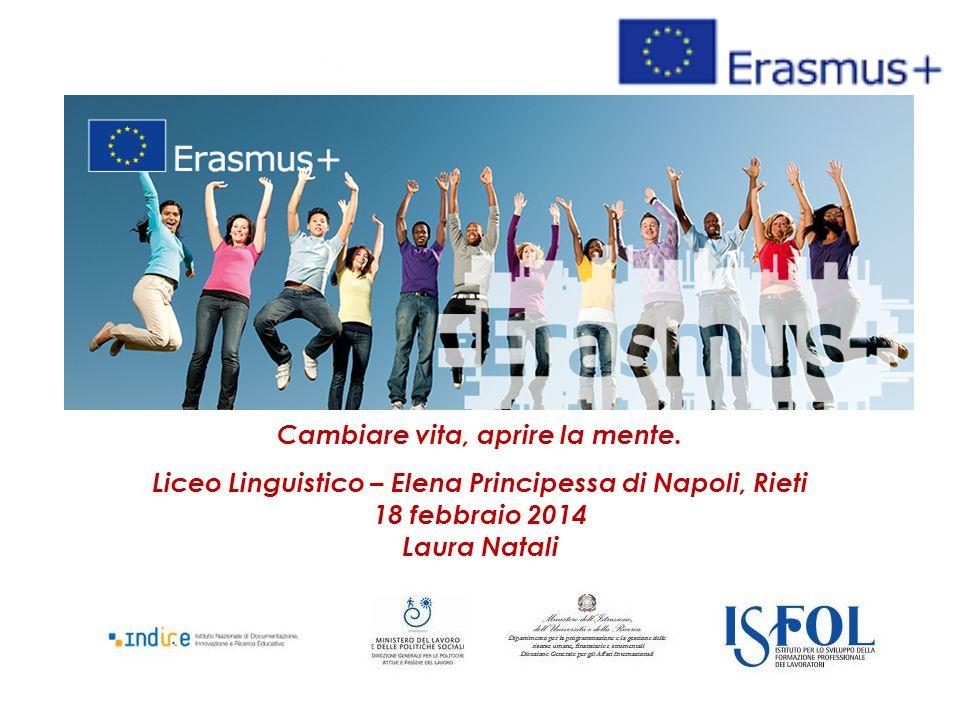 Cambiare vita, aprire la mente. Liceo Linguistico – Elena Principessa di Napoli, Rieti 18 febbraio 2014 Laura Natali