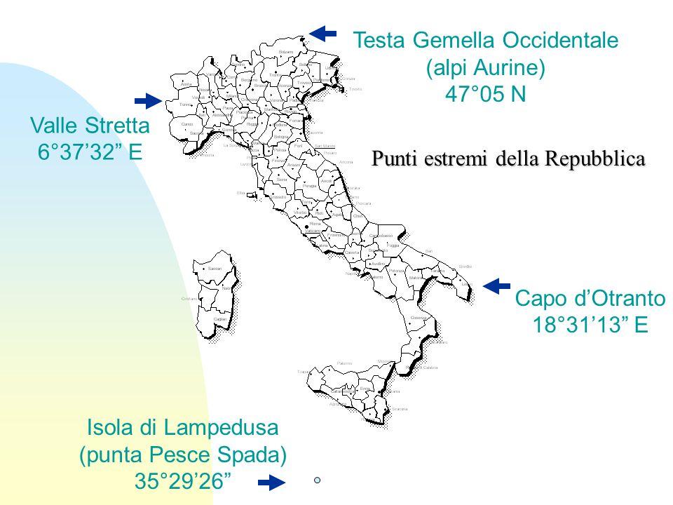 La porzione dell'Europa che rimane a sud dell'arco alpino, in parte semicontinentale, in parte insulare Regione Italiana