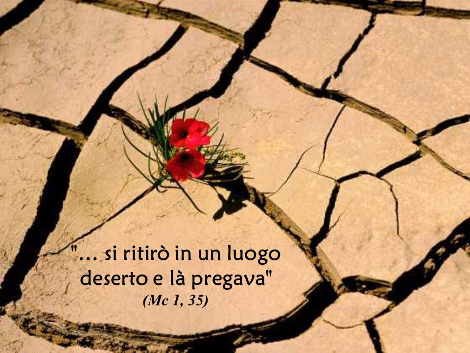 … si ritirò in un luogo deserto e là pregava (Mc 1, 35)