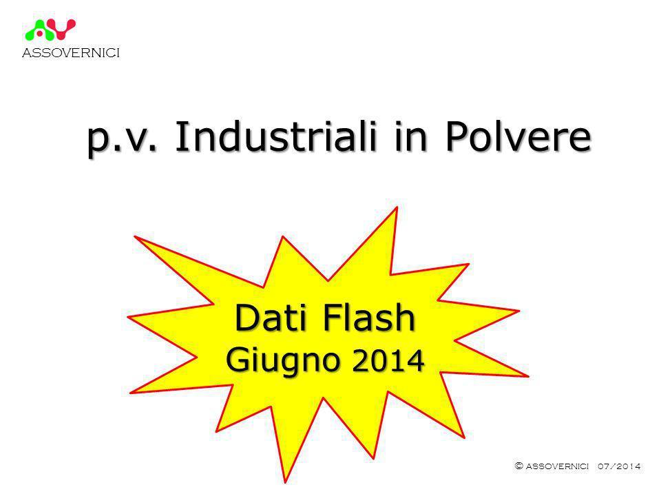 ASSOVERNICI © ASSOVERNICI 07/2014 p.v. Industriali in Polvere Dati Flash Giugno 2014
