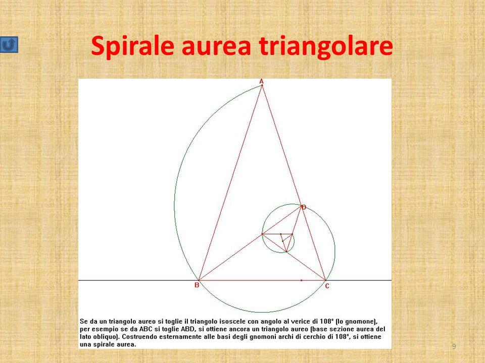 Spirale aurea triangolare 9
