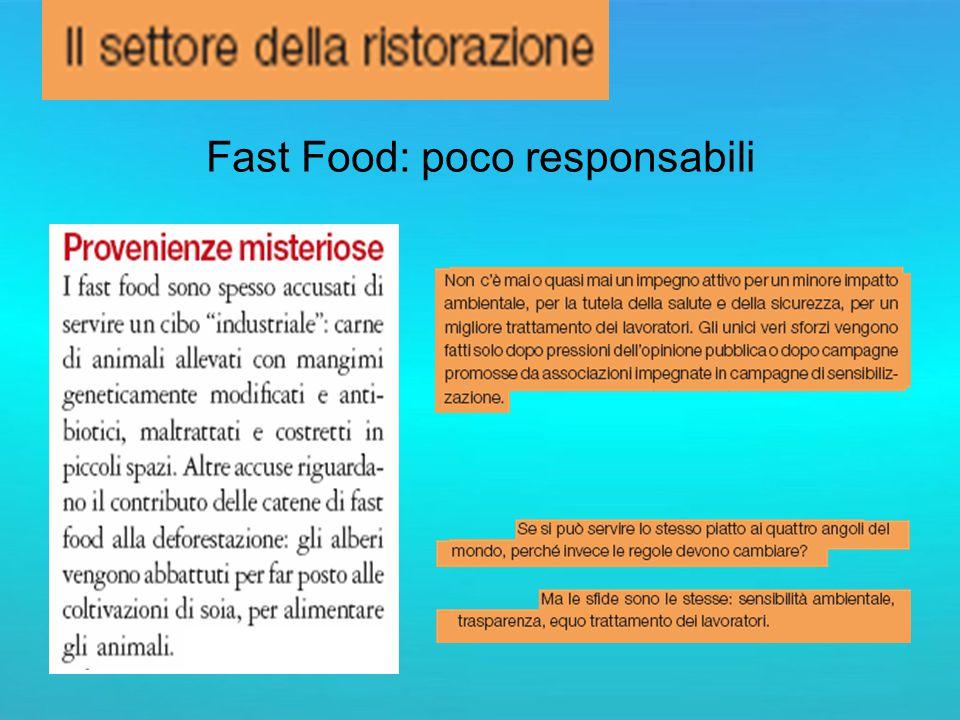 Fast Food: poco responsabili