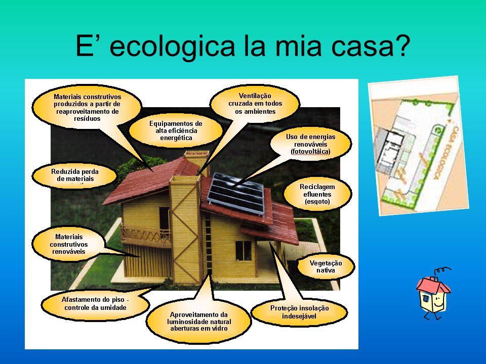 E' ecologica la mia casa?