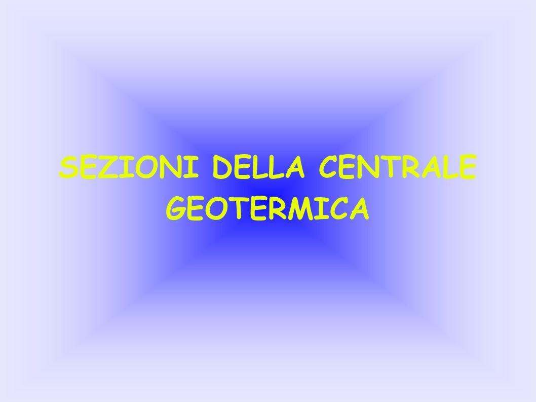SEZIONI DELLA CENTRALE GEOTERMICA
