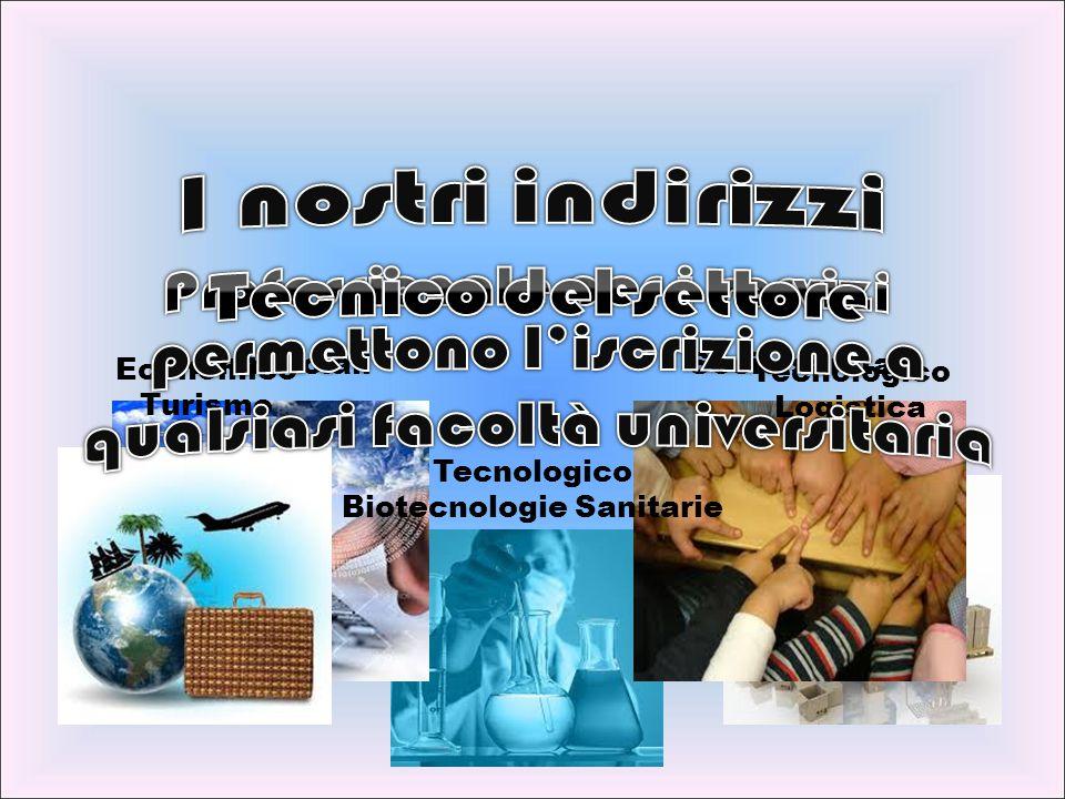 CommercialiSocio-sanitari Economico Turismo Tecnologico Biotecnologie Sanitarie Tecnologico Logistica