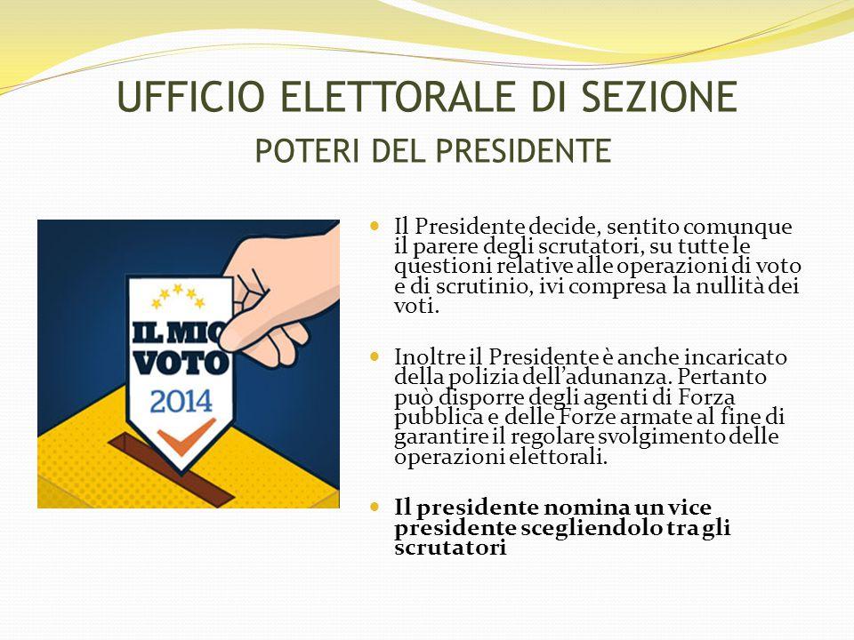Il Presidente decide, sentito comunque il parere degli scrutatori, su tutte le questioni relative alle operazioni di voto e di scrutinio, ivi compresa la nullità dei voti.