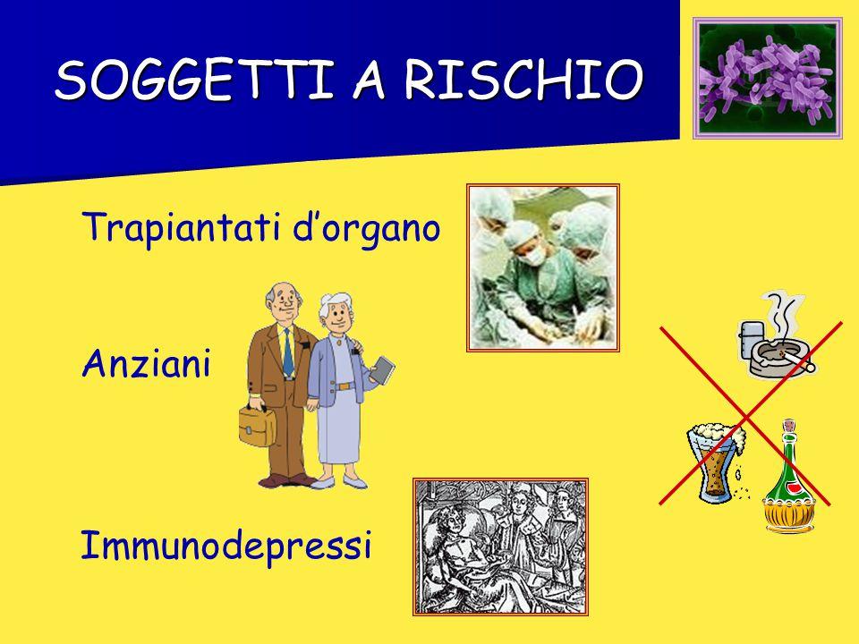 SOGGETTI A RISCHIO Anziani Trapiantati d'organo Immunodepressi