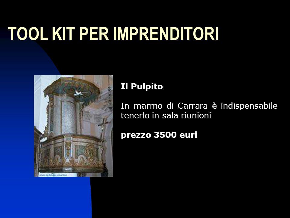 TOOL KIT PER IMPRENDITORI Il Pulpito In marmo di Carrara è indispensabile tenerlo in sala riunioni prezzo 3500 euri