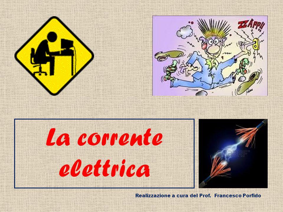 La corrente elettrica Realizzazione a cura del Prof. Francesco Porfido