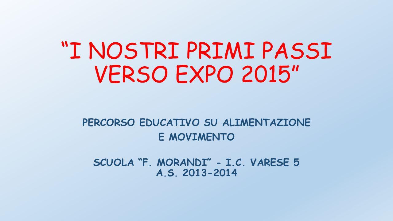 """""""I NOSTRI PRIMI PASSI VERSO EXPO 2015"""" PERCORSO EDUCATIVO SU ALIMENTAZIONE E MOVIMENTO SCUOLA """"F. MORANDI"""" - I.C. VARESE 5 A.S. 2013-2014"""