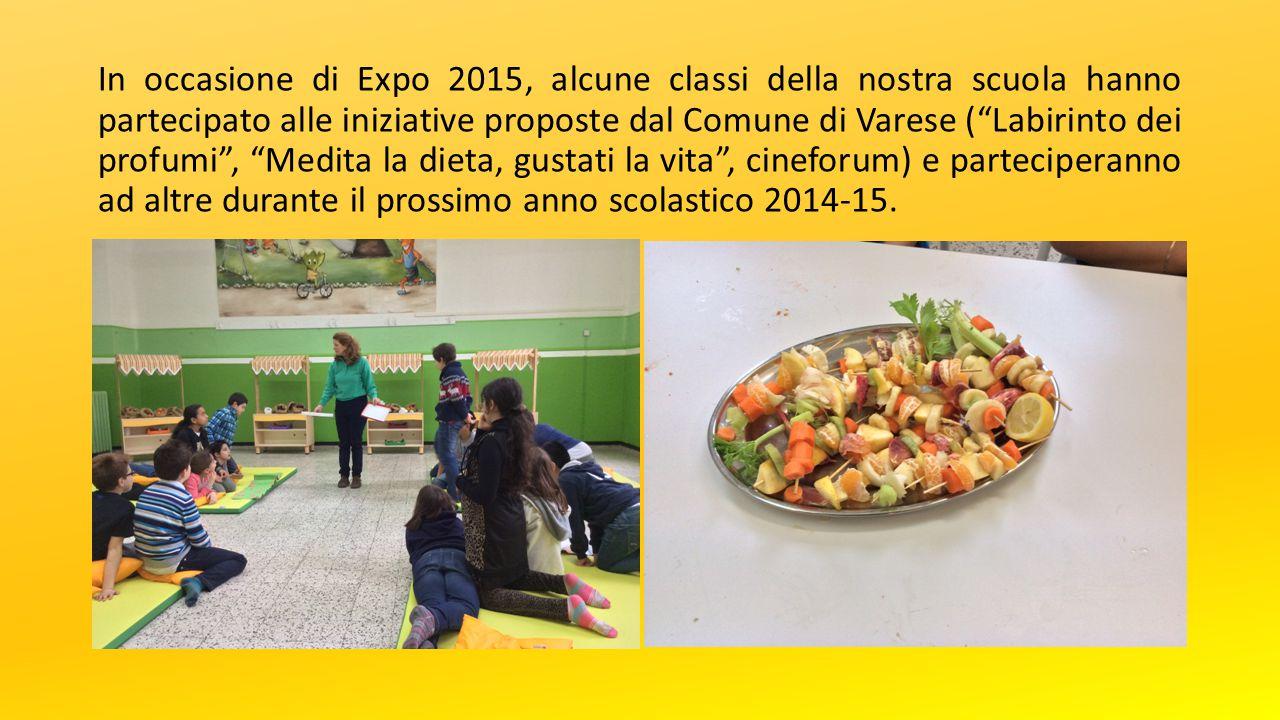 """In occasione di Expo 2015, alcune classi della nostra scuola hanno partecipato alle iniziative proposte dal Comune di Varese (""""Labirinto dei profumi"""","""