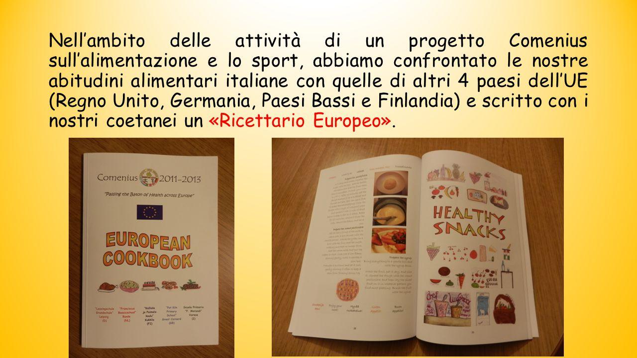 Nell'ambito delle attività di un progetto Comenius sull'alimentazione e lo sport, abbiamo confrontato le nostre abitudini alimentari italiane con quel