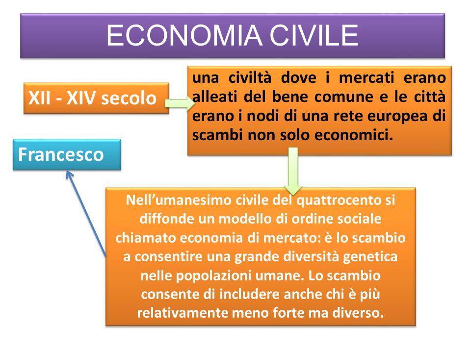 ECONOMIA CIVILE XII - XIV secolo una civiltà dove i mercati erano alleati del bene comune e le città erano i nodi di una rete europea di scambi non solo economici.
