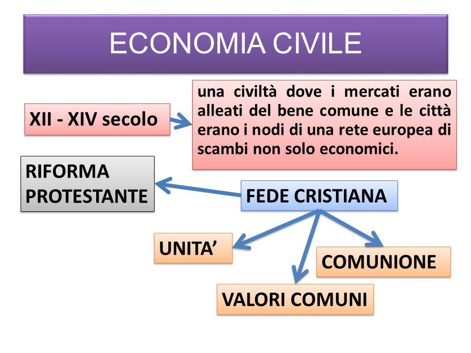 ECONOMIA CIVILE XII - XIV secolo una civiltà dove i mercati erano alleati del bene comune e le città erano i nodi di una rete europea di scambi non so