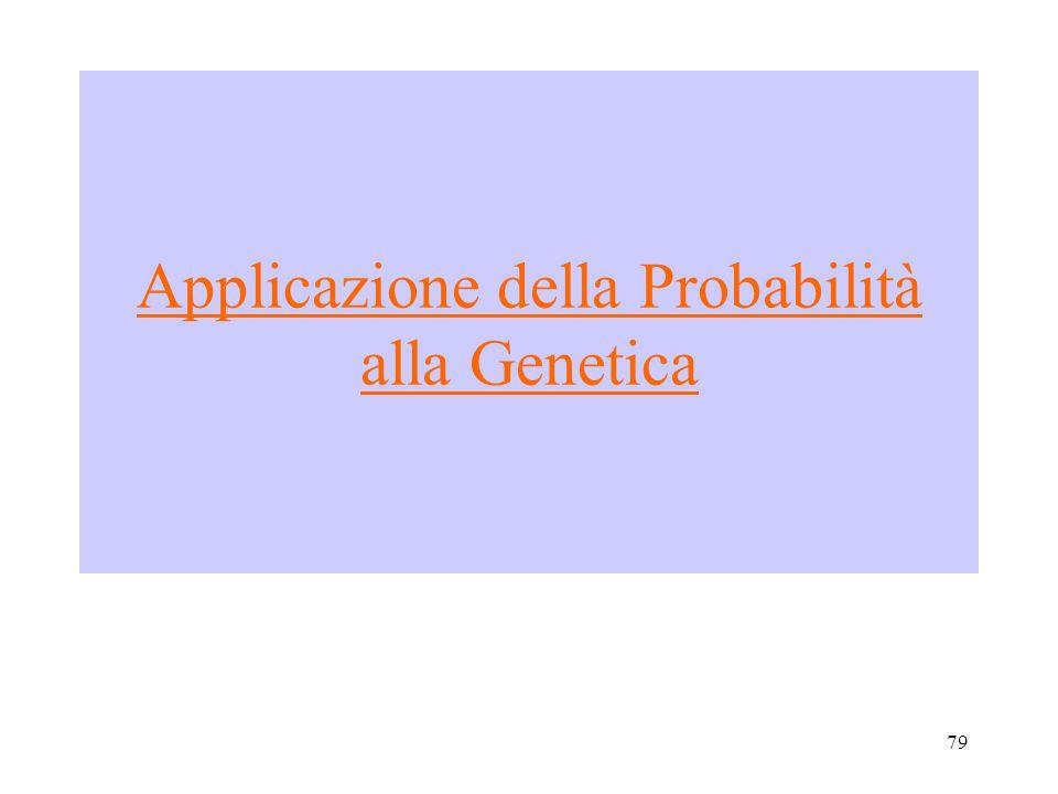 79 Applicazione della Probabilità alla Genetica