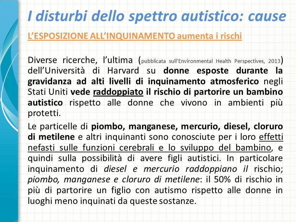 I disturbi dello spettro autistico: cause L'ESPOSIZIONE ALL'INQUINAMENTO aumenta i rischi Diverse ricerche, l'ultima ( pubblicata sull'Environmental H