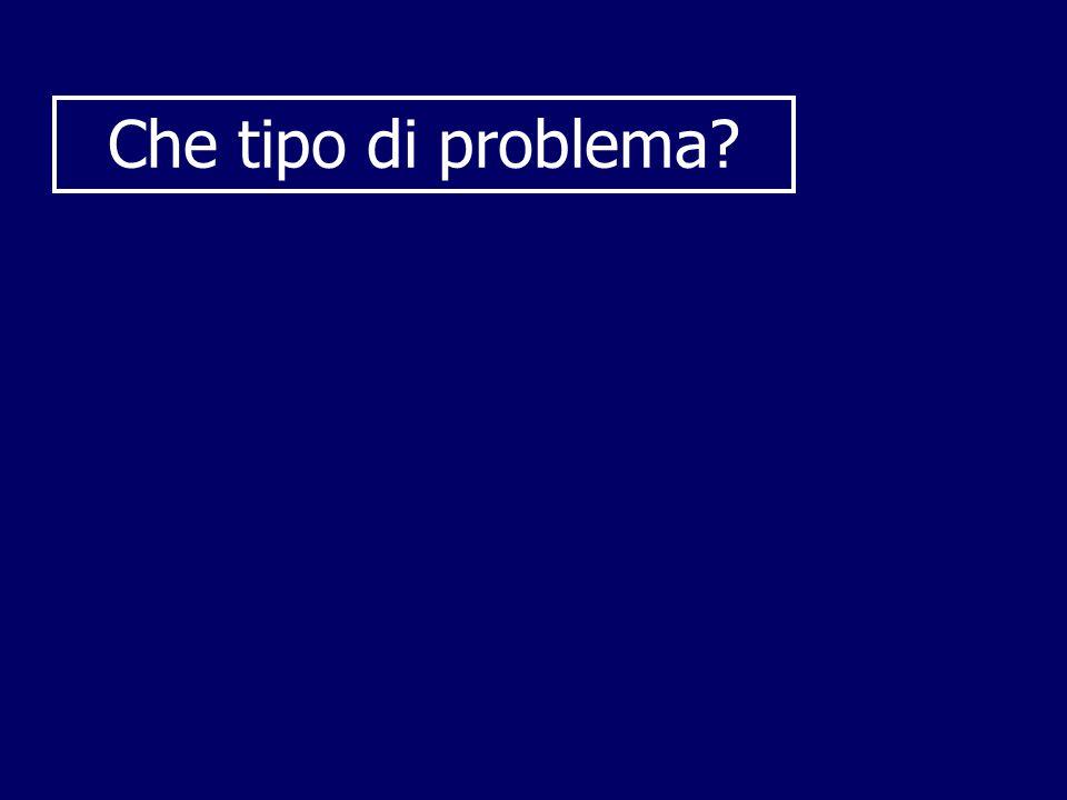 Che tipo di problema?
