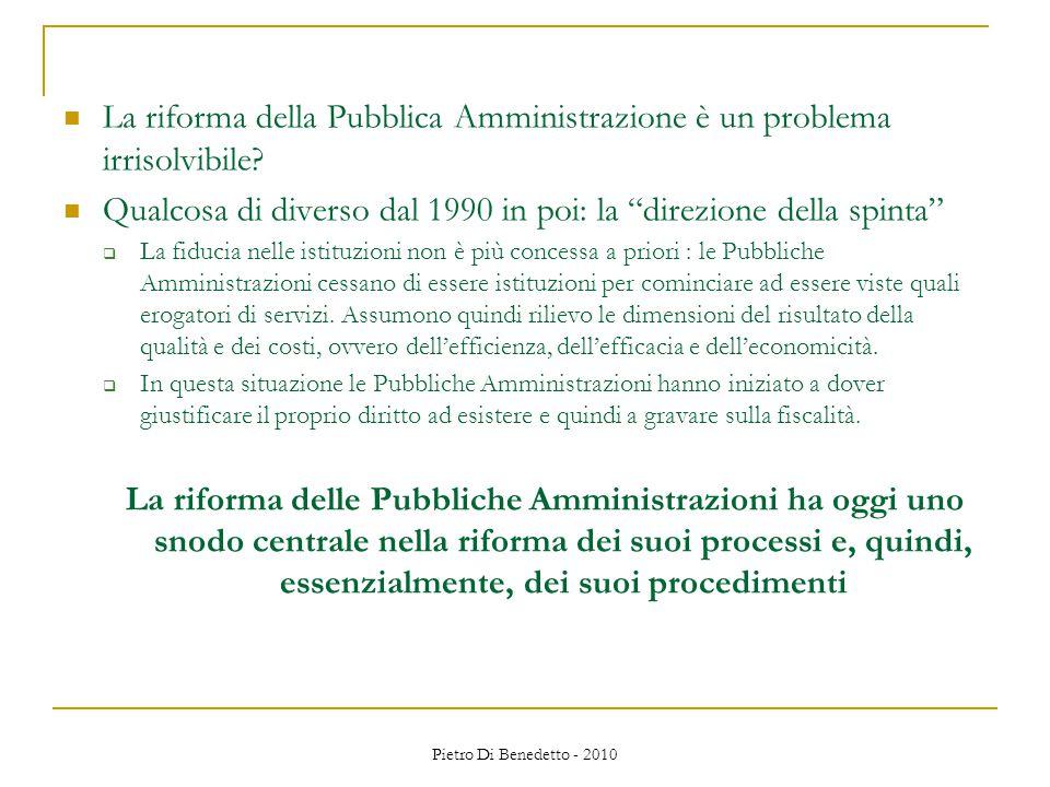 La riforma della Pubblica Amministrazione è un problema irrisolvibile.