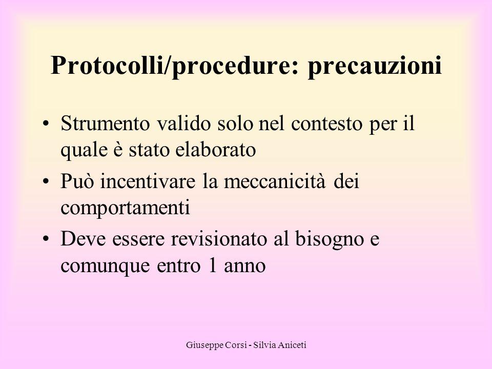 Giuseppe Corsi - Silvia Aniceti Strumento valido solo nel contesto per il quale è stato elaborato Può incentivare la meccanicità dei comportamenti Dev