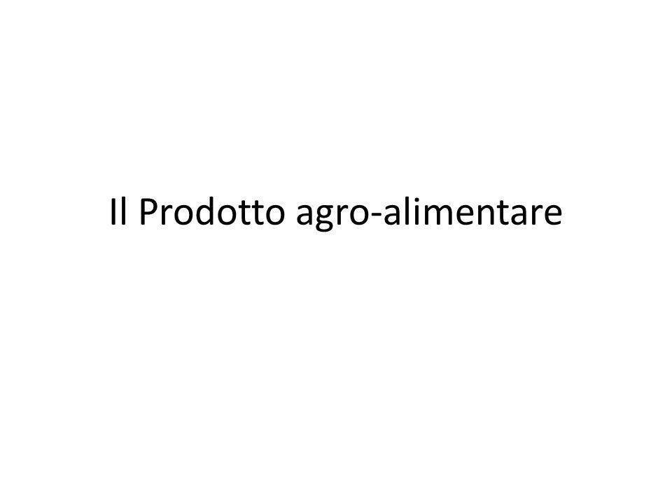 Il prodotto agro-alimentare è un output ottenuto dalla lavorazione di una o più materie prime di origine agricola.