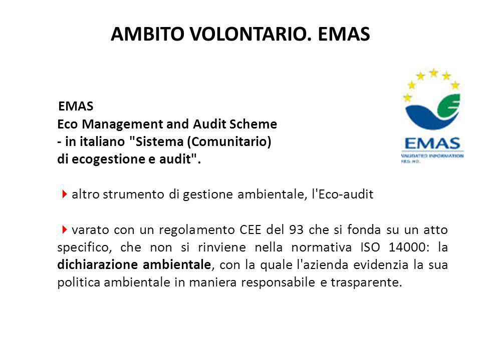EMAS Eco Management and Audit Scheme - in italiano