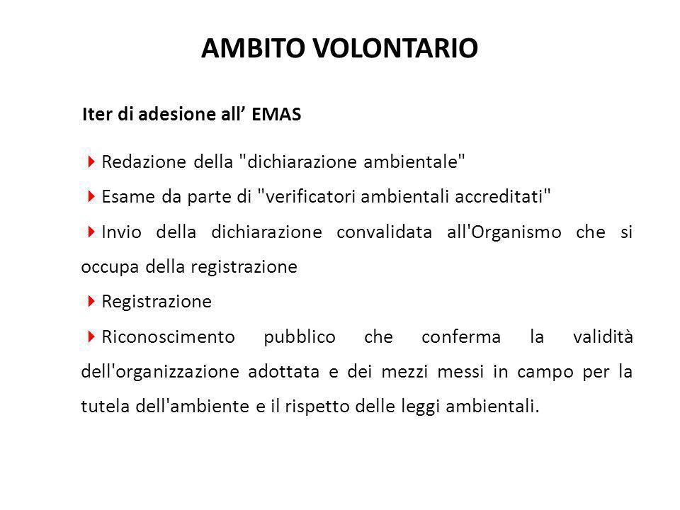 Iter di adesione all' EMAS  Redazione della