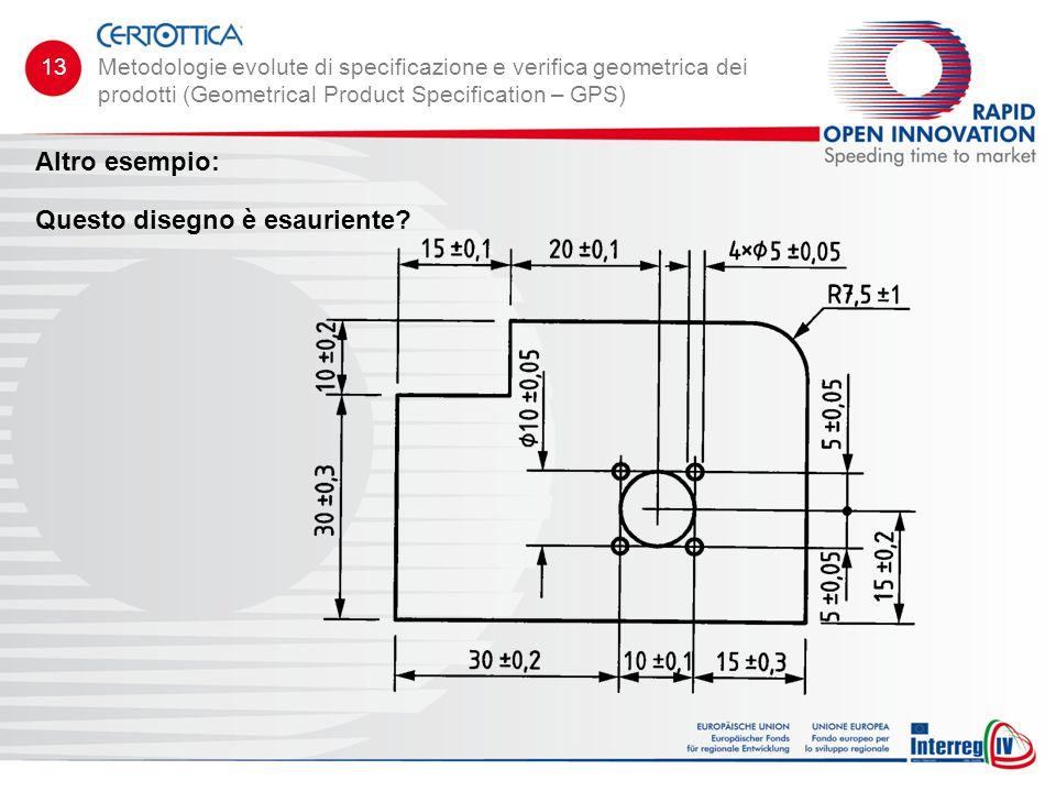 Altro esempio: Questo disegno è esauriente? Metodologie evolute di specificazione e verifica geometrica dei prodotti (Geometrical Product Specificatio