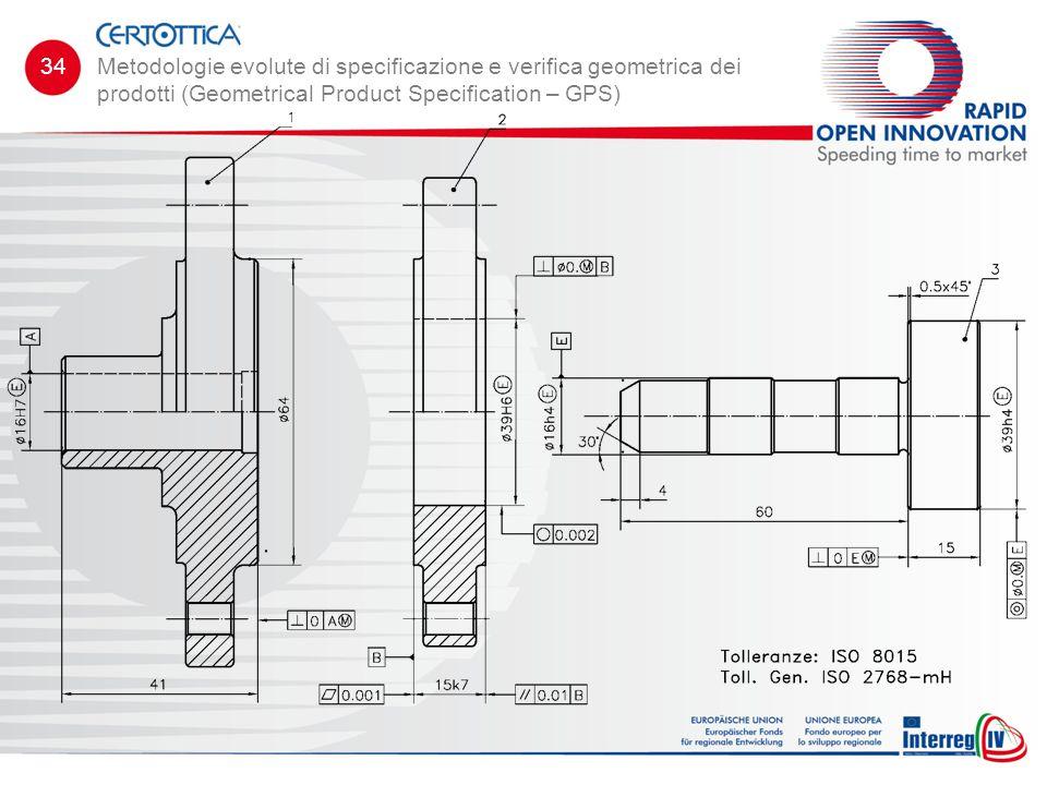 Metodologie evolute di specificazione e verifica geometrica dei prodotti (Geometrical Product Specification – GPS) 34